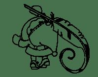 Disegno di Babbo Natale scrittura da Colorare - Acolore.com