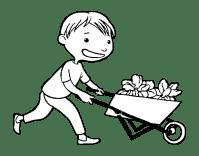 Disegno di Bambino con carretto da Colorare - Acolore.com