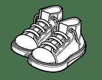 Disegno di Bambino scarpe da Colorare - Acolore.com