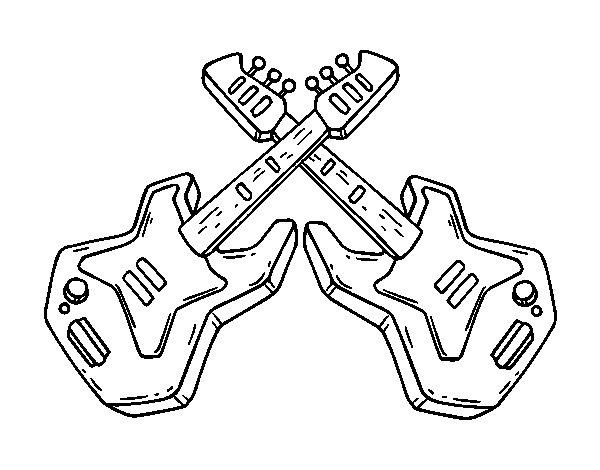 Disegno Di Chitarre Elettrica Da Colorare