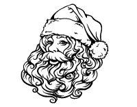 Disegno di Faccia di Babbo Natale per Natale da Colorare ...