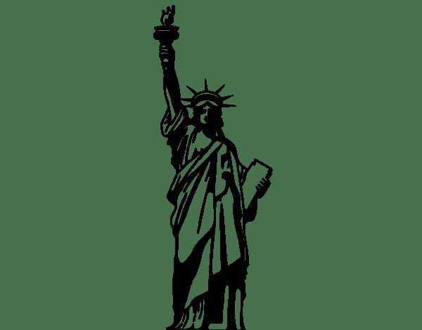 Disegno di La Statua della Libert da Colorare