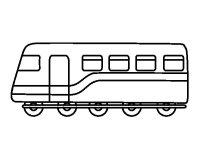 Disegno di Passeggeri di treno da Colorare