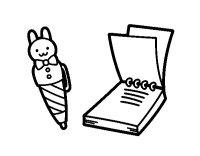 Disegno di Penna e blocco note per bambini da Colorare ...