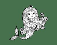 Disegno di Principessa sirena da Colorare - Acolore.com