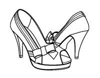 Disegno di Scarpe con fiocco da Colorare - Acolore.com