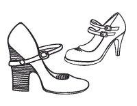 Disegno di Scarpe con tacco da Colorare - Acolore.com