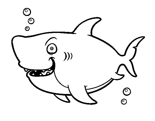 Disegno Di Squalo Balena Da Colorare