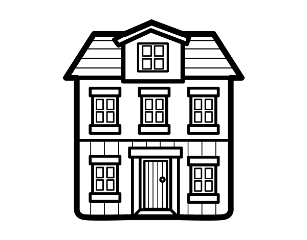 Disegno Di Una Casa Da Colorare