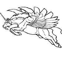 Disegno di Unicorno alato da Colorare - Acolore.com