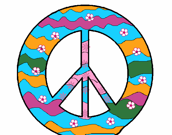 Disegno Simbolo Della Pace Colorato Da Utente Non