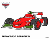 Colored page Cars 2 - Francesco Bernoulli painted by User ...