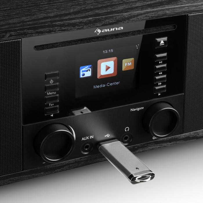 Bluetooth Lautsprecher Pc Ir-190 Internetradio Cd-player Wifi Upnp Usb Fernbedienung