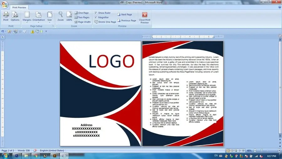 Entry #1 by Bshah7 for Create Word Document Cover Page and header