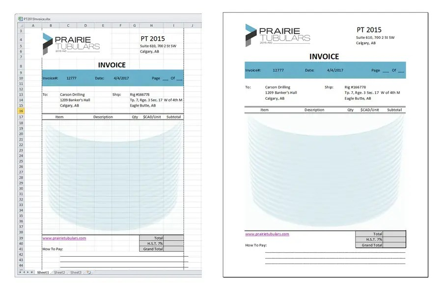 Entry #9 by alviolette for Graphic Design for Invoice Template in