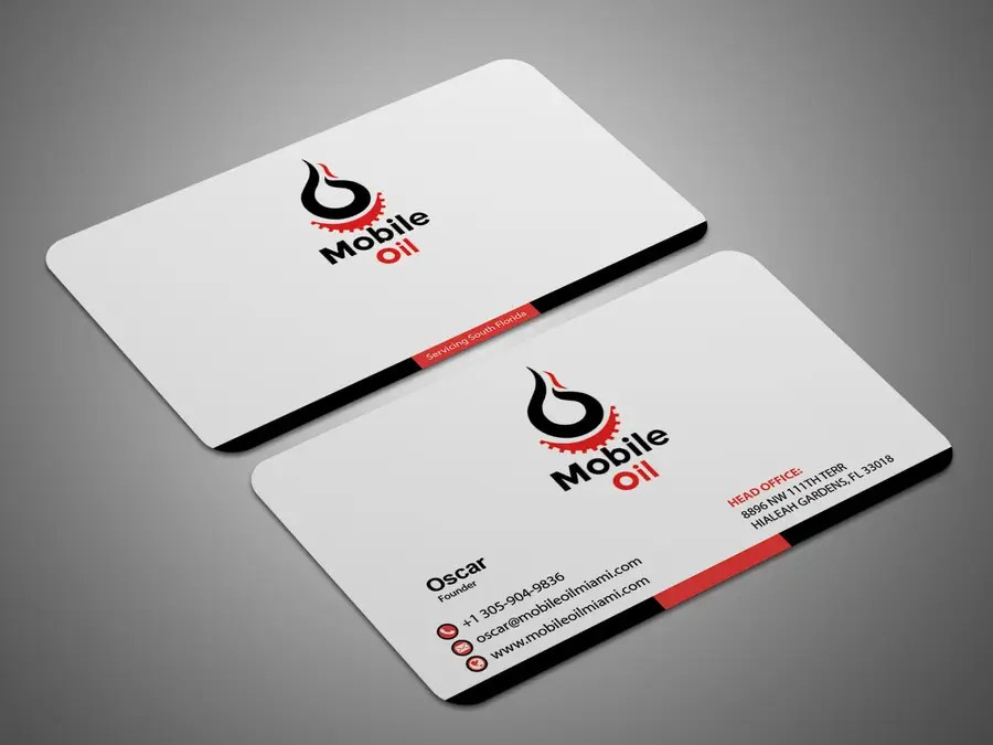 Entry #56 by DHL007 for Design some Business Cards for a Mobile Oil