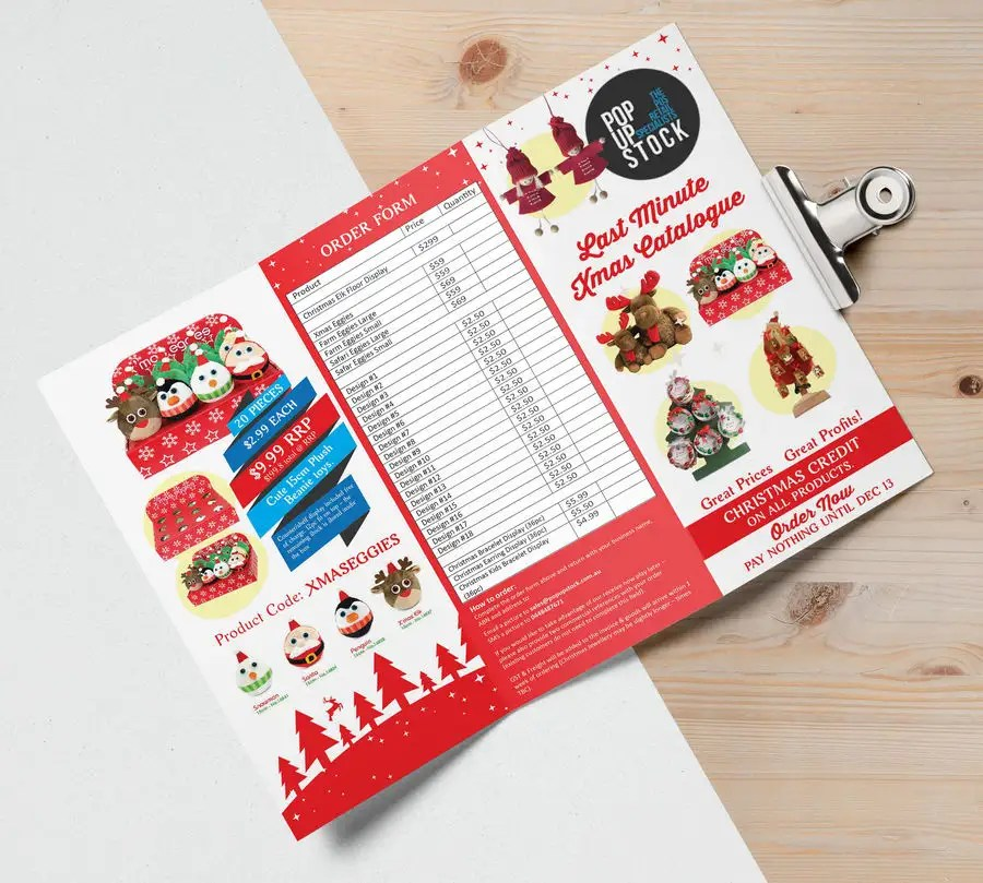 Entry #7 by Badraddauza for Create a Christmas Themed Tri-Fold - create tri fold brochure