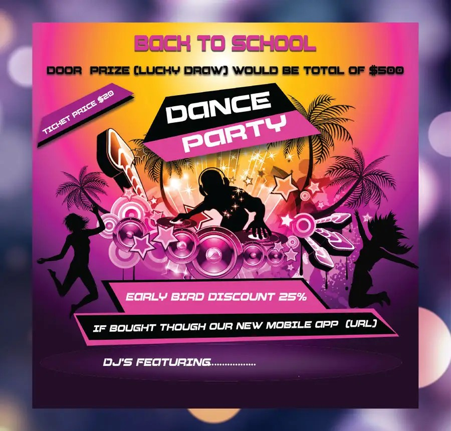 Entry #34 by syhamsmt for flyer design for a dance party Freelancer