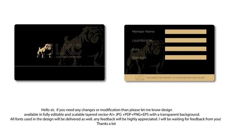 Entry #72 by mmasumbillah57 for Design a member card Freelancer