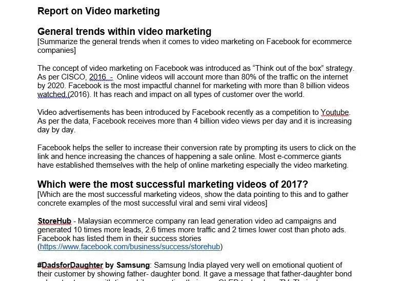 Entry #2 by vineetbahl for Viedo marketing research what conecpts