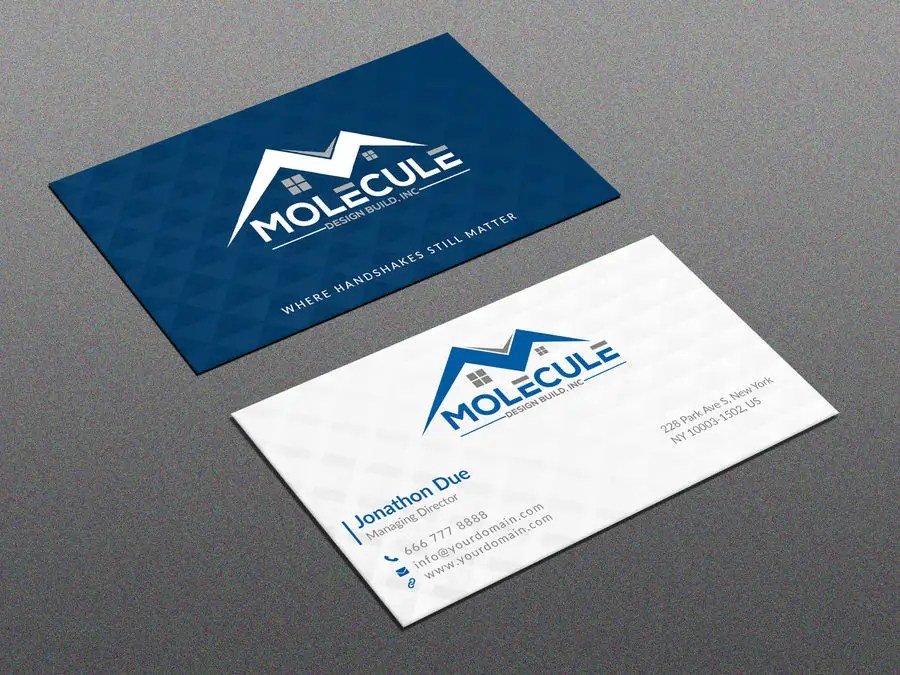 Entry #3 by joney2428 for 2 sided Business Card Layout  Logo
