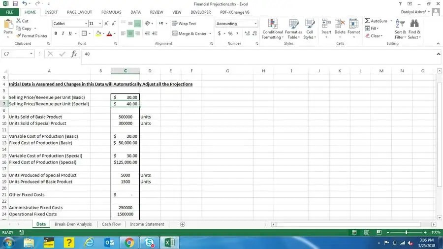 Entry #2 by daniyal3214 for Income Statement Modeling  Forecast