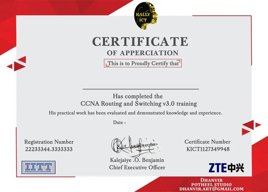 Entry #11 by DhanvirArt for Training Certificate Design Freelancer