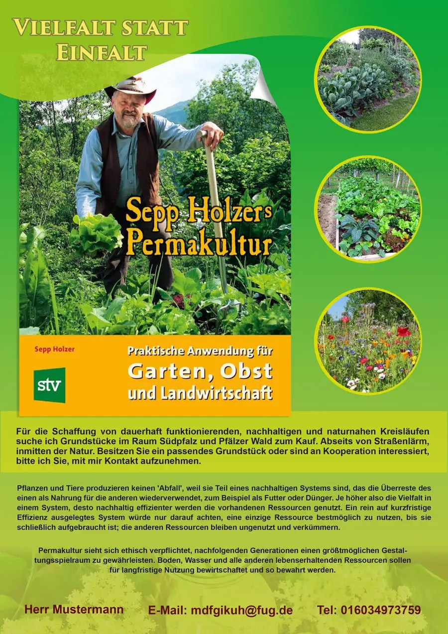 Permakultur Garten Was Ist Das Entry 28 By Esmeraldaalonso For Design A Flyer For Permakultur