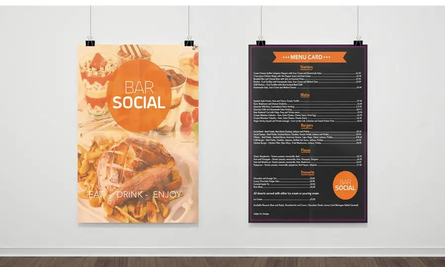 Entry #31 by NSGraphicDesing for Design/Create funky food menu for