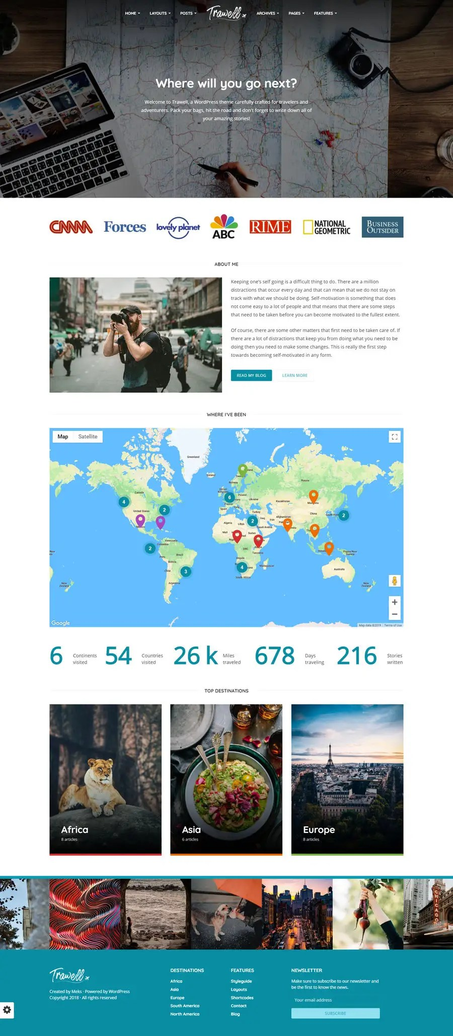 Travel Blog With Map Entry 84 By Ueccse1 For Build A Travel Blog Website