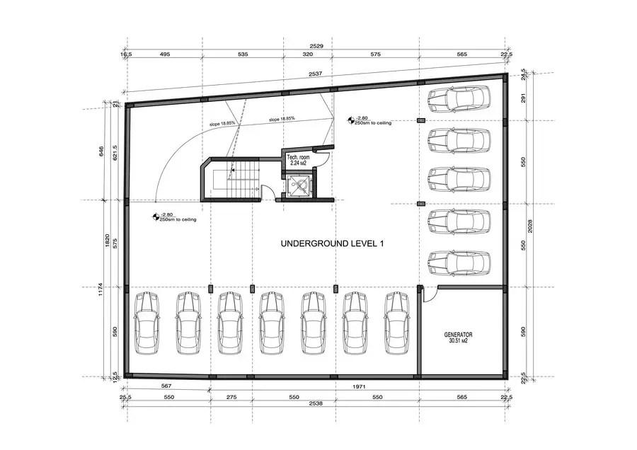Underground Parking Garage Design On A Small Plot Freelancer