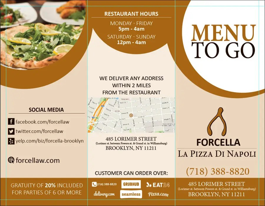 Entry #54 by ronilto1001 for To-Go Menu for restaurant Freelancer - restaurant to go menu