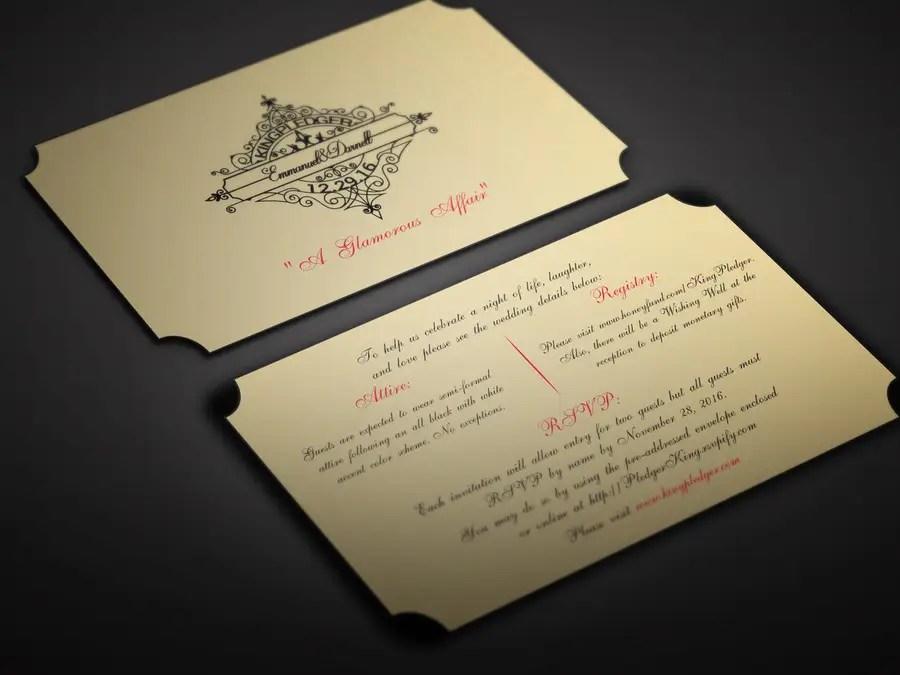 Entry #18 by BikashBapon for Golden ticket wedding invitation