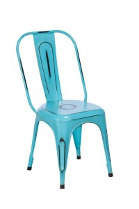 TOBY Metal Dining Chair - Blue