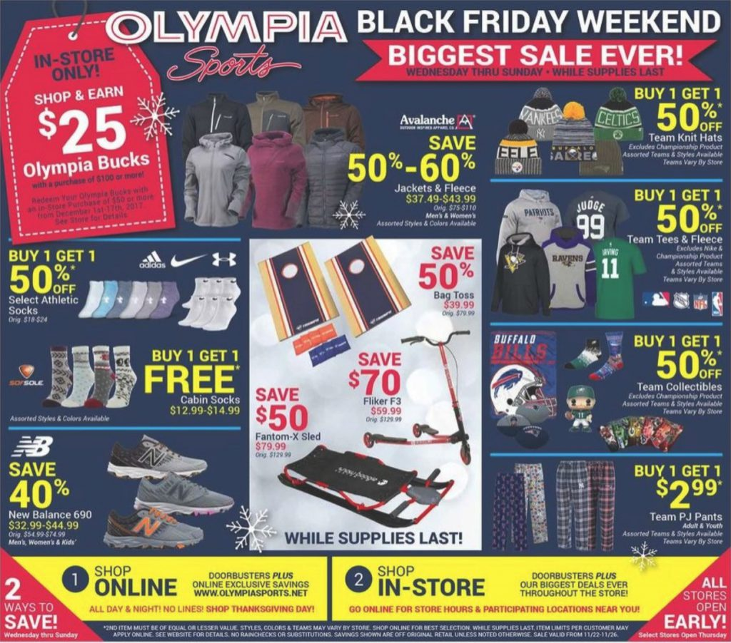 München Black Friday Olympia Sports Black Friday 2017 Ad And Deals Funtober