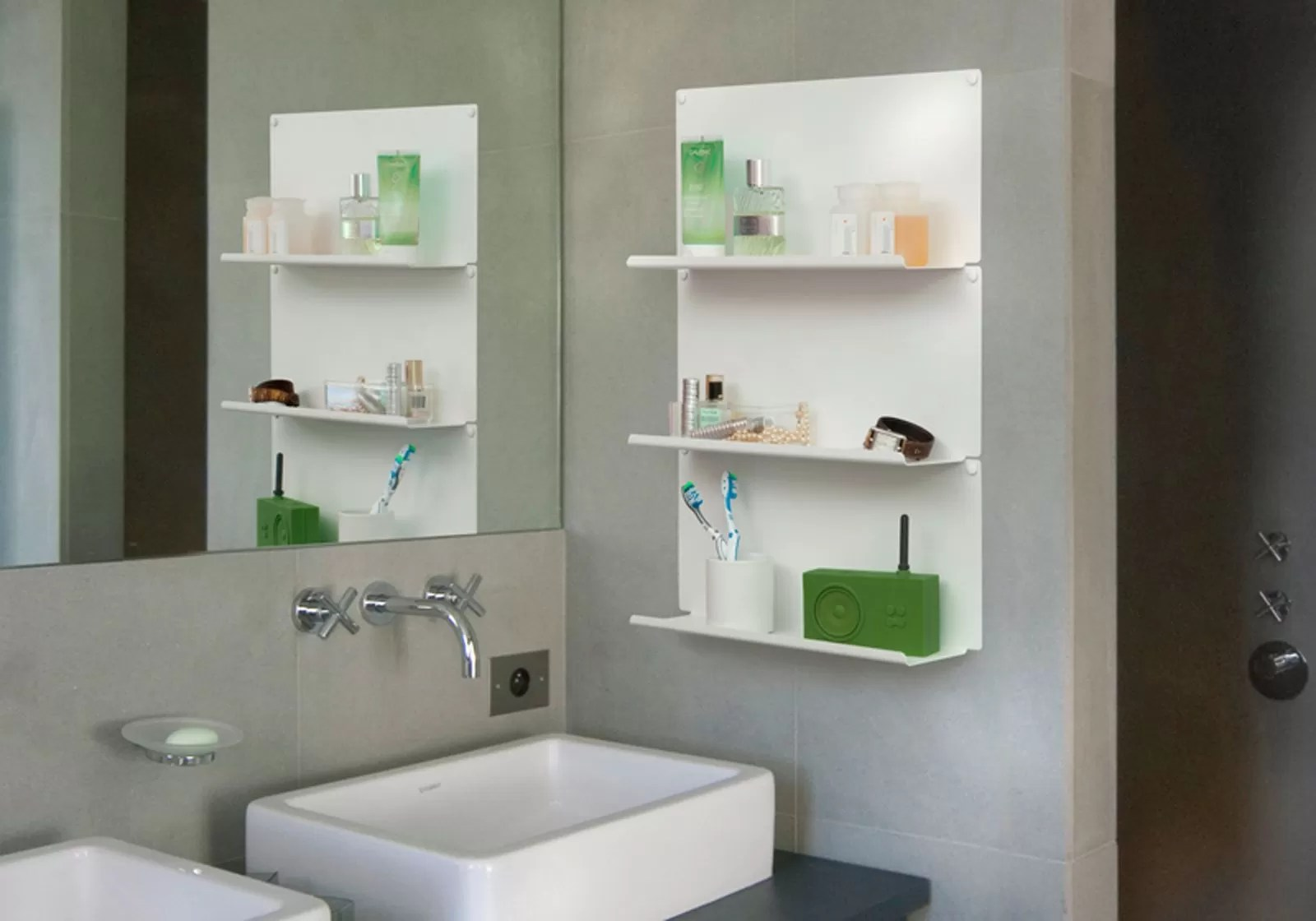 Set Of 4 Bathroom Shelves Quotlequot Teebooks
