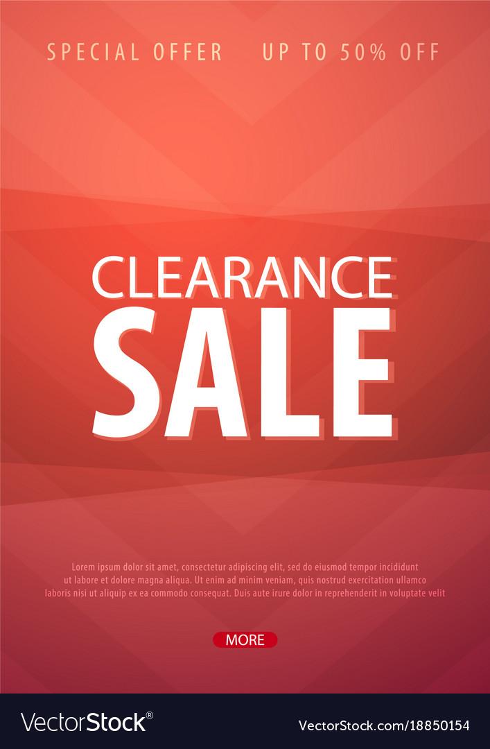 Sale poster or flyer design discount background Vector Image - sale poster design