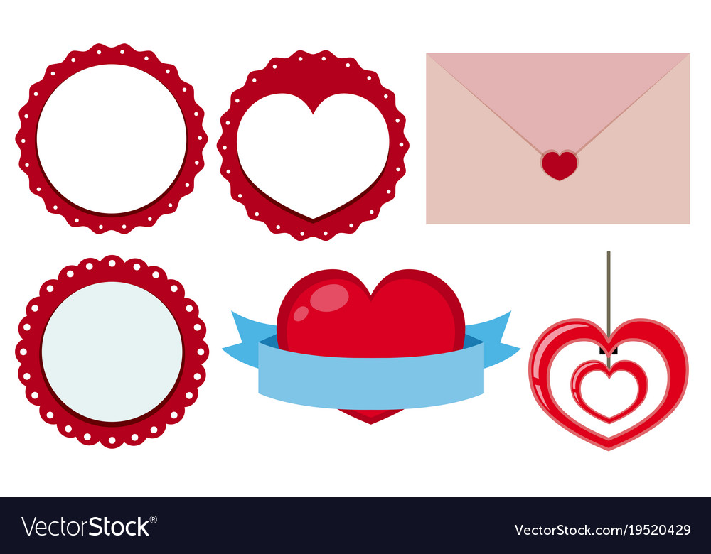 Label designs for valentine day Royalty Free Vector Image