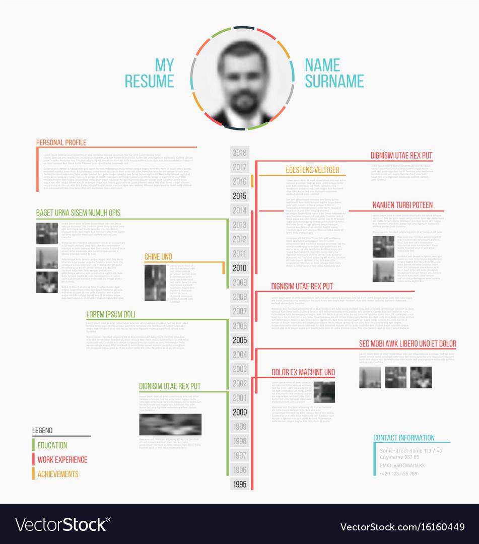 minimalist web template resume