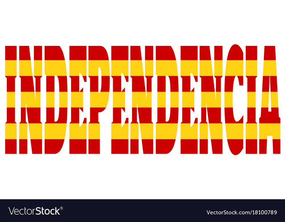 Independence word textured by flag of catalonia Vector Image - word flag