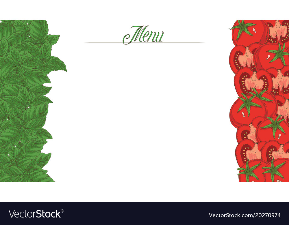 Italian flag menu template Royalty Free Vector Image - italian menu