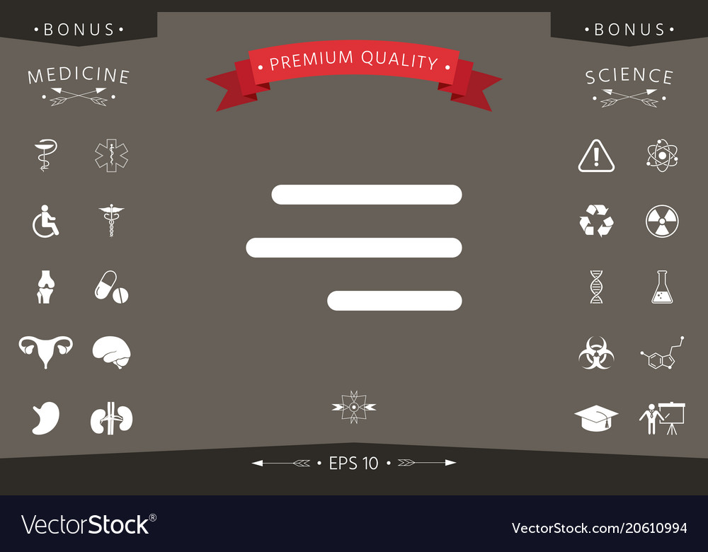 Modern hamburger menu icon for mobile apps and Vector Image - apps symbol