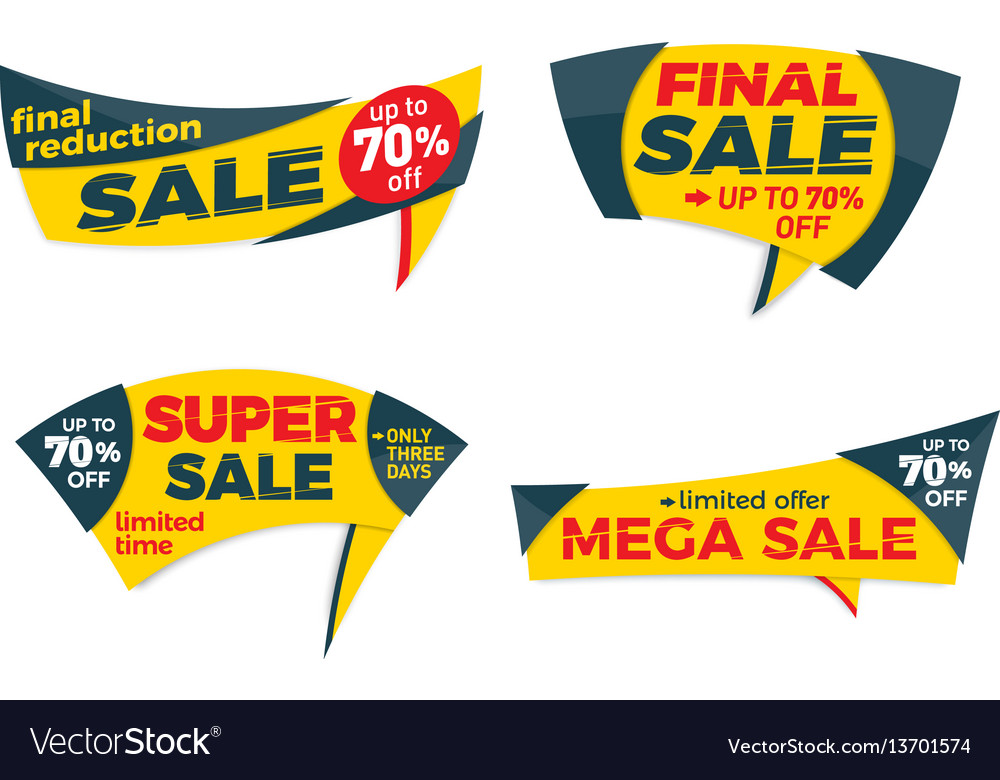 Sale label price tag banner badge template sticker - sale tag template
