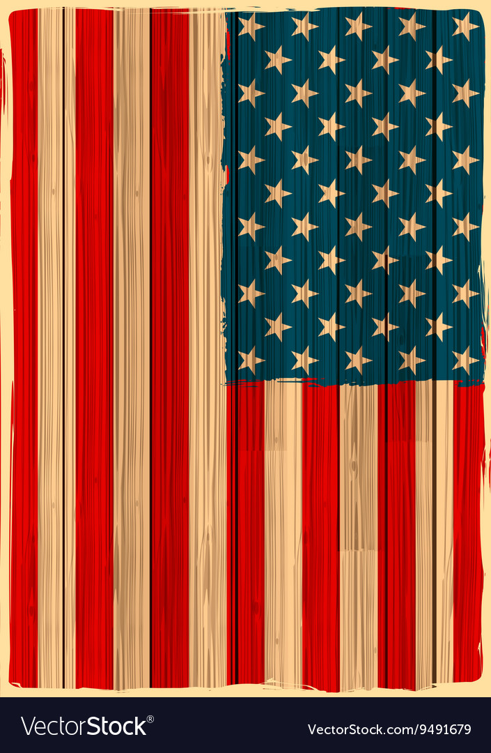 Grungy American Flag Background Royalty Free Vector Image