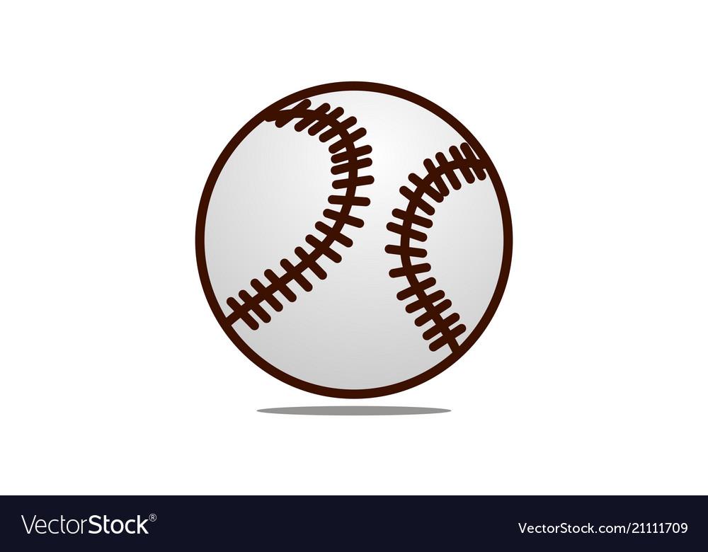 Baseball logo design template Royalty Free Vector Image