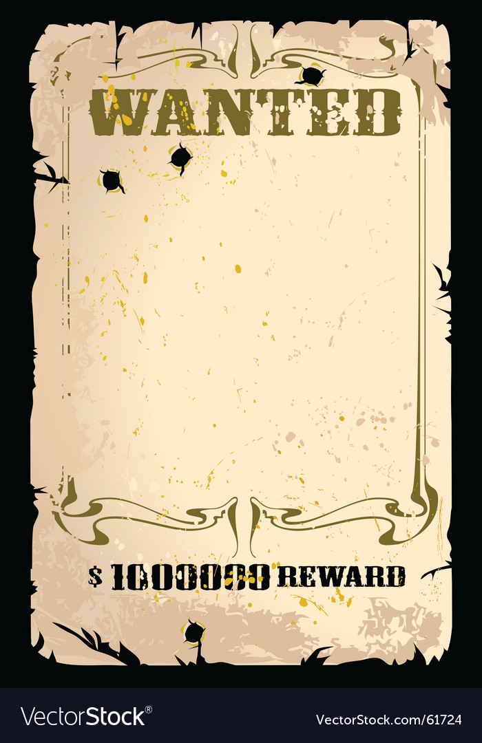 Wanted poster Royalty Free Vector Image - VectorStock