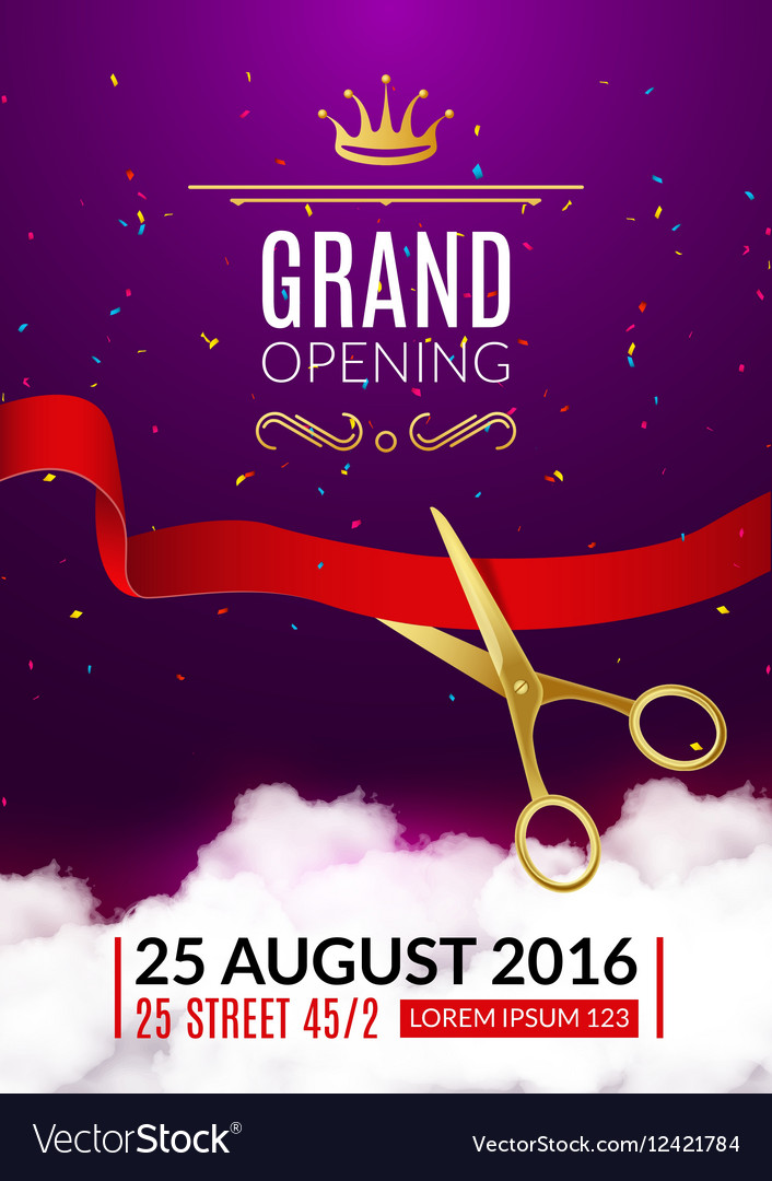 Grand Opening invitation card Grand Opening Event Vector Image