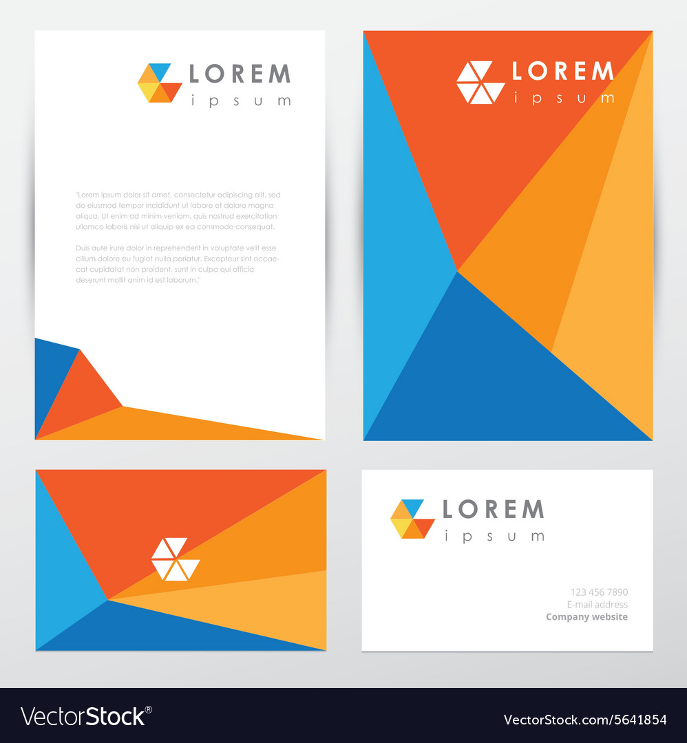 Corporate Graphic Design Corporate Identity Document Template Vector Image On Vectorstock