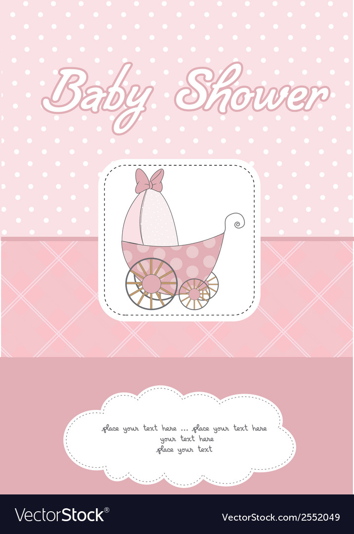 Baby girl announcement card Royalty Free Vector Image