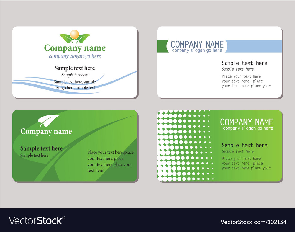 Business cards templates Royalty Free Vector Image